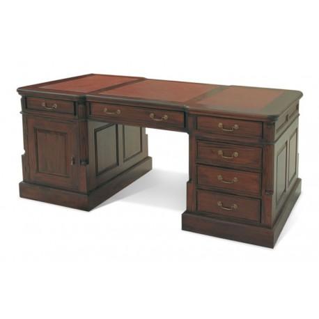 Кабинетный стол темно-коричневая кожа 160x75x80