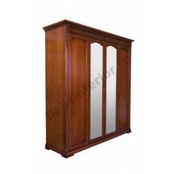 Шкаф 4-х дверный с зеркалом Валенсия