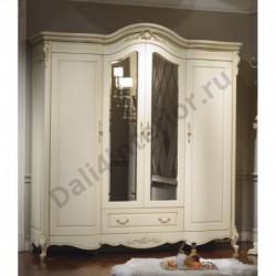 Шкаф Милано 4-дверный с зеркалом