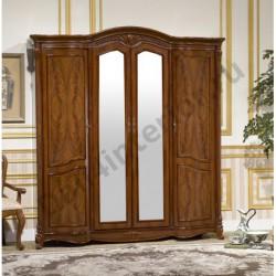 Шкаф 4-дверный с зеркалами Виолетта