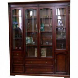 Шкаф книжный Валенсия 4-х дверный Закрытый