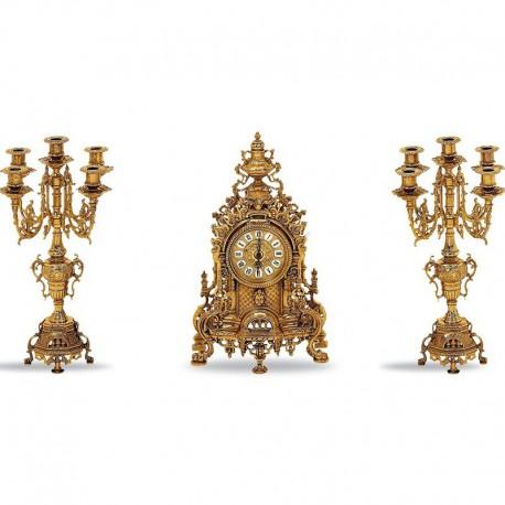 Набор каминный Часы и 2 канделябра S1234