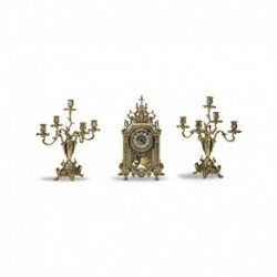 Набор каминный Часы и 2 канделябра S1383
